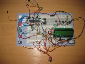 Prototype of the RGB LED controller, using a Boarduino.